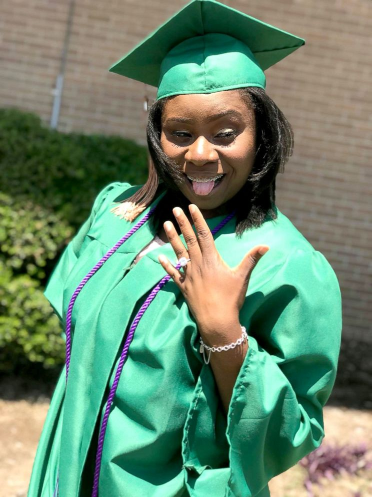 PHOTO: University of North Texas graduate Charmecia Goree shows off her engagement ring.