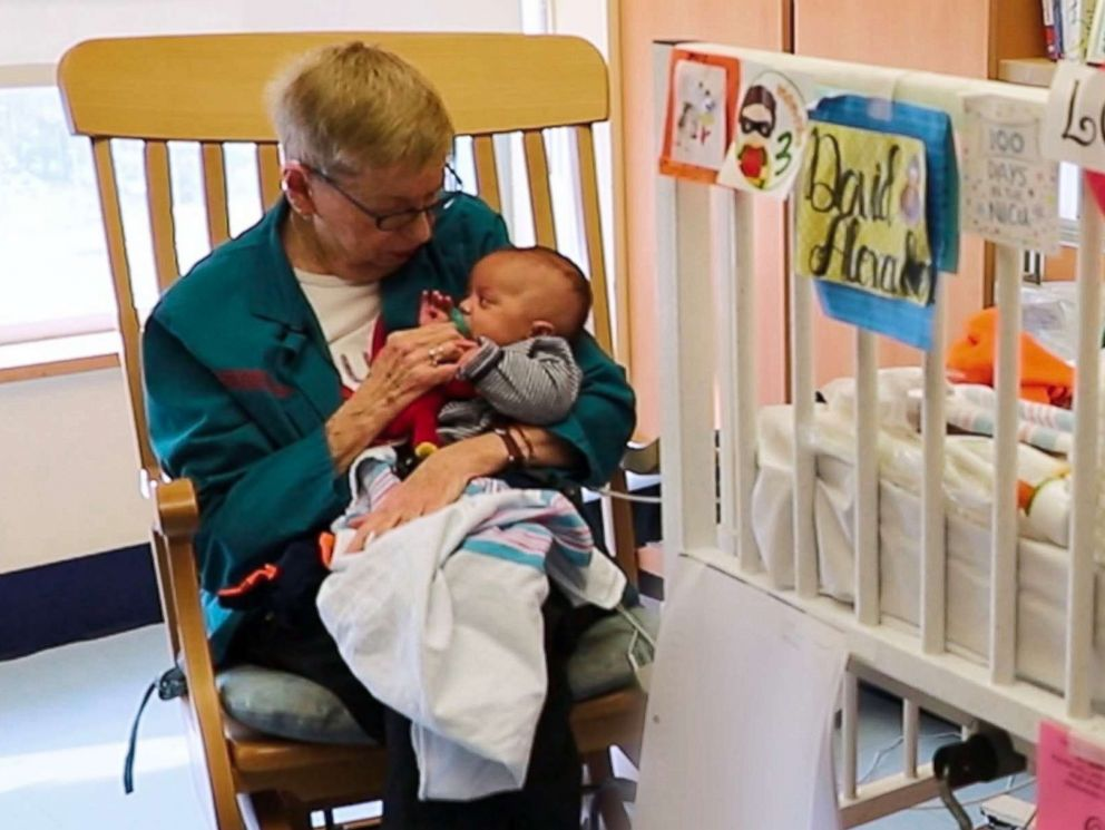 Meet The Woman Known As The Grandma Cuddler Abc News