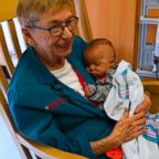Joan Hart brings love and cuddles to babies at the NICU at Morgan Stanley Children's Hospital in New York.