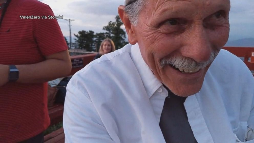 PHOTO: John Hart, 71, of California, was asked to film an engagement but accidentally filmed himself at Sandia Peak Tramway in Albuquerque, N.M.