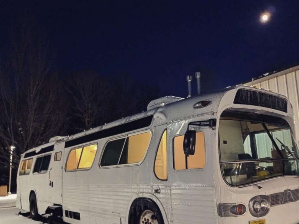 PHOTO: The converted RV can comfortably sleep up to four people.