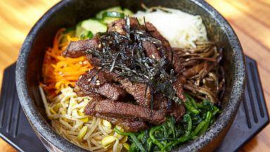 PHOTO: A short rib version of bibimap at Moa Korean Restaurant in Rockville, Maryland.
