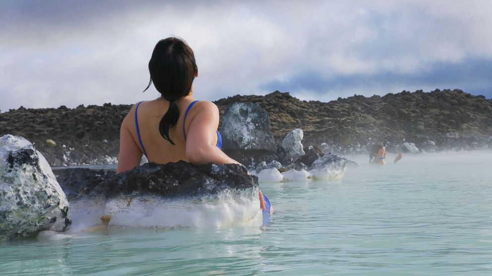 A woman relaxes at the Blue Lagoon in Iceland in an undated stock photo.