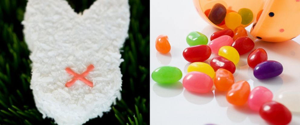 PHOTO: Marshmallow treats and jelly beans are pictured in these stock photos.