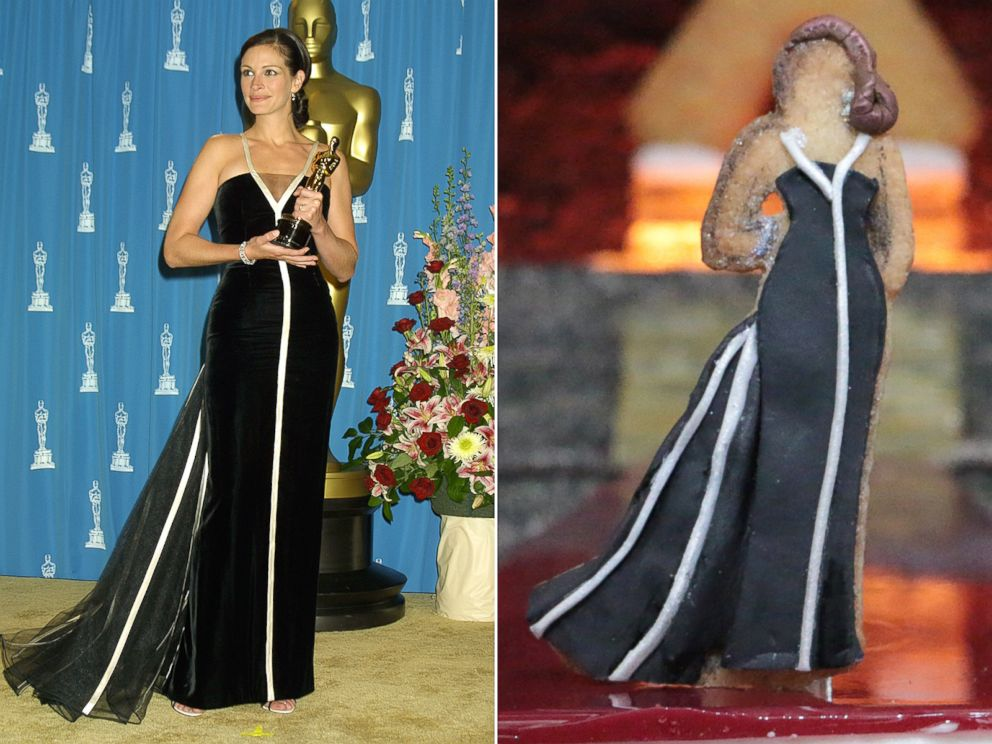 Photo Julia Roberts 2001 Oscars Dress Recreated In Cookie Form