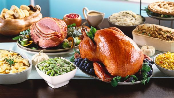 A Thanksgiving meal is pictured in an undated stock photo.