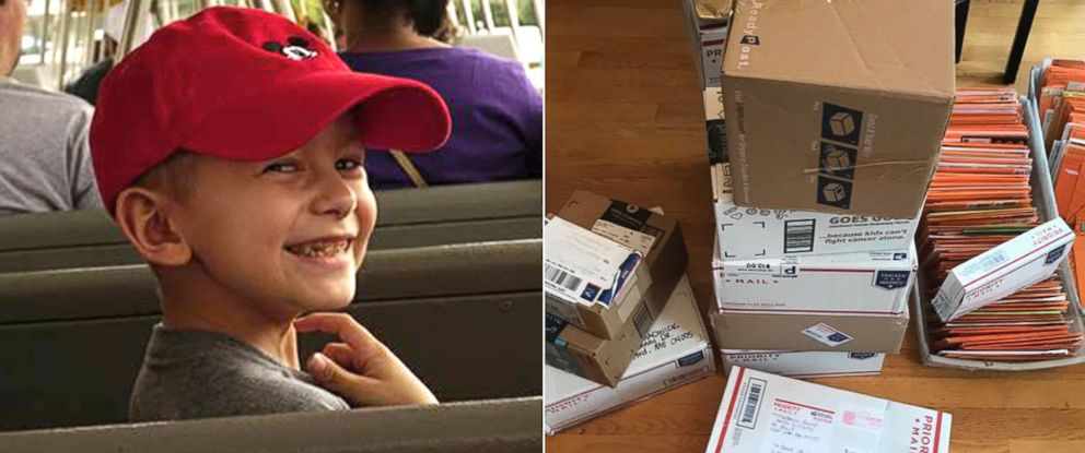 PHOTO: Brock Chadwick, 7, has received nearly 1,000 greeting cards from strangers as far as Singapore after his family member asked people on Facebook to send him well wishes for Halloween.