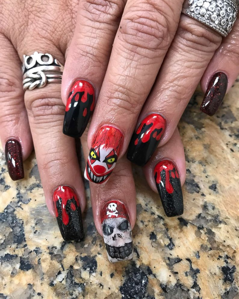 This woman doesn\'t mess around with her Halloween nail art - ABC News