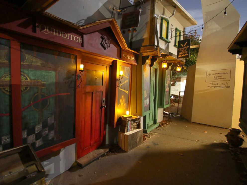 PHOTO: Jon Chambers of Seattle teamed up with his neighbors to build a replica of Harry Potters Diagon Alley in his driveway.