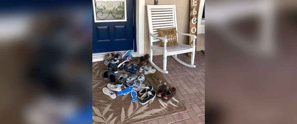 PHOTO: Heather Duckworth shared a photo of her front porch showing her kids shoes onto her Facebook page, Love, Faith & Chaos, where it received over 64,000 likes.