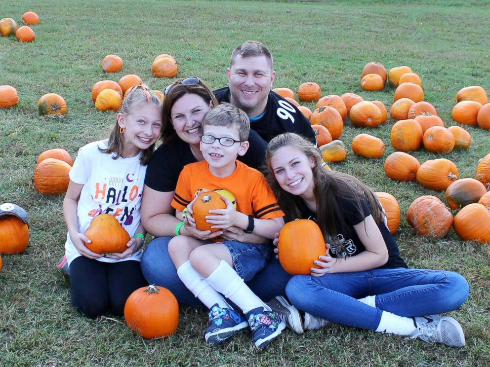 PHOTO: Jackson Mcilroy, 7, photographed with his parents, Shawn and Aimee Mcilroy, and his sisters, Kara Mcilroy, 14 and Maggie Mcilroy, 11.