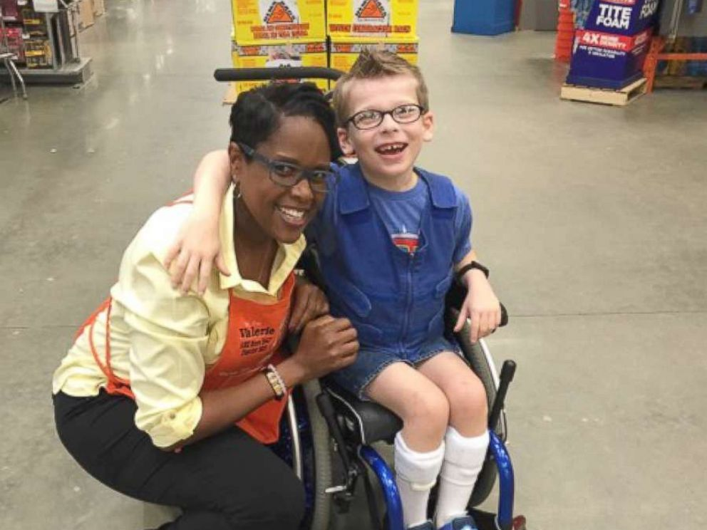 PHOTO: Mom Aimee Mcilroy of Wake Forest, North Carolina, publicly thanked Home Depot employee Valerie Baker on Facebook, after Baker fit the bill for nearly $100 worth of materials for Jackson Mcilroys Halloween costume.