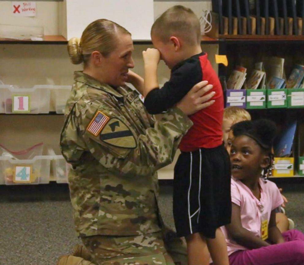 Soldier Surprises Mom At Her Wedding In Emotional Video: Soldier Mom Surprises Her Kindergartner And 7th-grader