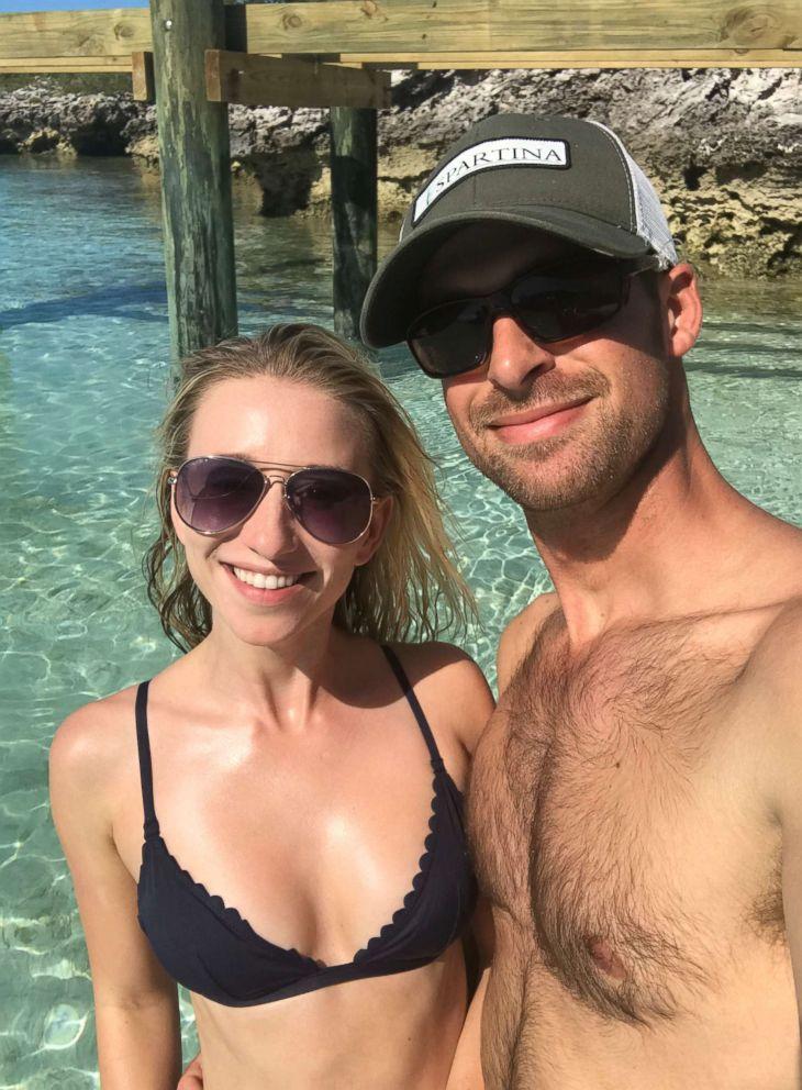 PHOTO: Sarah and Evan Carroll on their honeymoon in the Caribbean.
