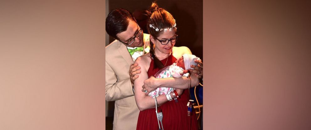 PHOTO: Jael Pulcipher, 29 and John Pulcipher, 30, welcomed their daughter, Briar Dorothy Pulcipher, on the day they were scheduled to marry in a lakeside ceremony.