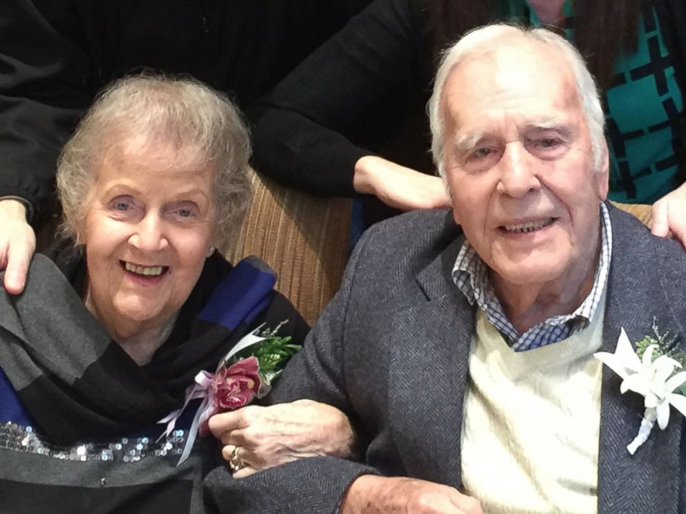 PHOTO: Ray and Mavis Phaneuf celebrated their 73rd anniversary by recreating their first date at the Fairmont Olympic Hotel in Seattle.