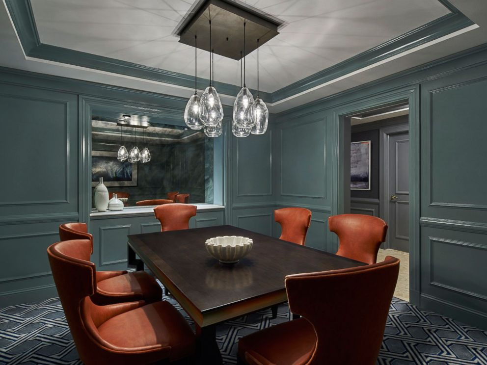 PHOTO: The dining room of the Ritz-Carlton Hotels Washington D.C. presidential suite is shown in this undated photo.