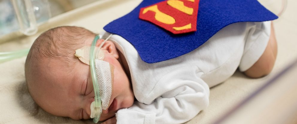 PHOTO: The babies in the NICU at St. Lukes Hospital in Kansas City, Missouri, got Halloween costumes and mini crocheted pumpkins.
