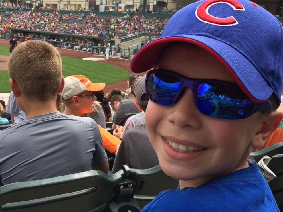 PHOTO: Kolt Kyler, 9, a die-hard Chicago Cubs fan, broke down in tears when his father surprised him with tickets for his hard work.