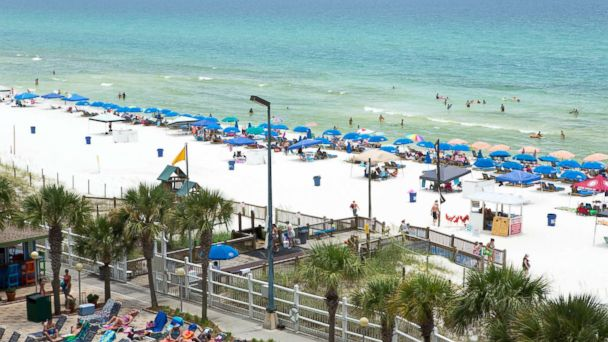 PHOTO: Panama City Beach is one of the 8 most crowded U.S. beaches.
