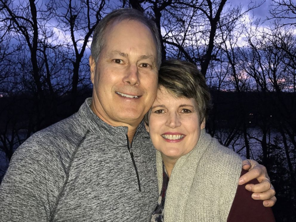 PHOTO: Jim Koch, 60, of Panora, Iowa, proposed to wife Lora Koch again on Feb. 28, 2017, just one week after her mastectomy surgery.