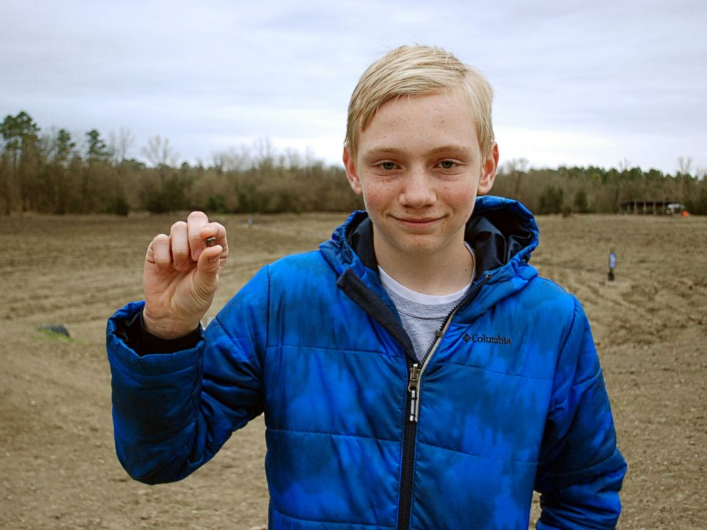 PHOTO: Kalel Langford, 14, of Centerton, Arkansas, found the 7th-largest diamond ever discovered in Crater of Diamonds State Park.