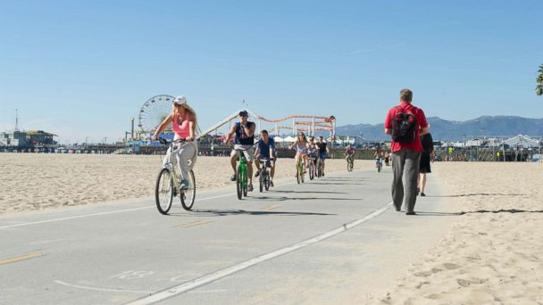 PHOTO: Santa Monica is one of the 8 most crowded U.S. beaches.