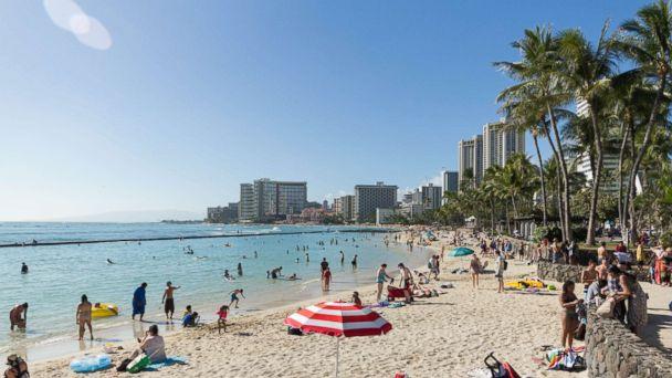 PHOTO: Waikiki Beach is one of the 8 most crowded U.S. beaches.