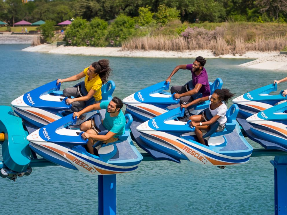 PHOTO: The Wave Breaker: The Rescue Coaster at SeaWorld San Antonio is designed to resemble a jet-ski and reaches speeds up to 44 mph.