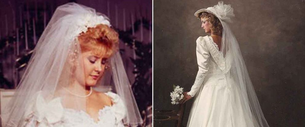PHOTO: Kim Jones, left, and Shannon McNamara, right, unknowingly stored each others wedding dresses for three decades.