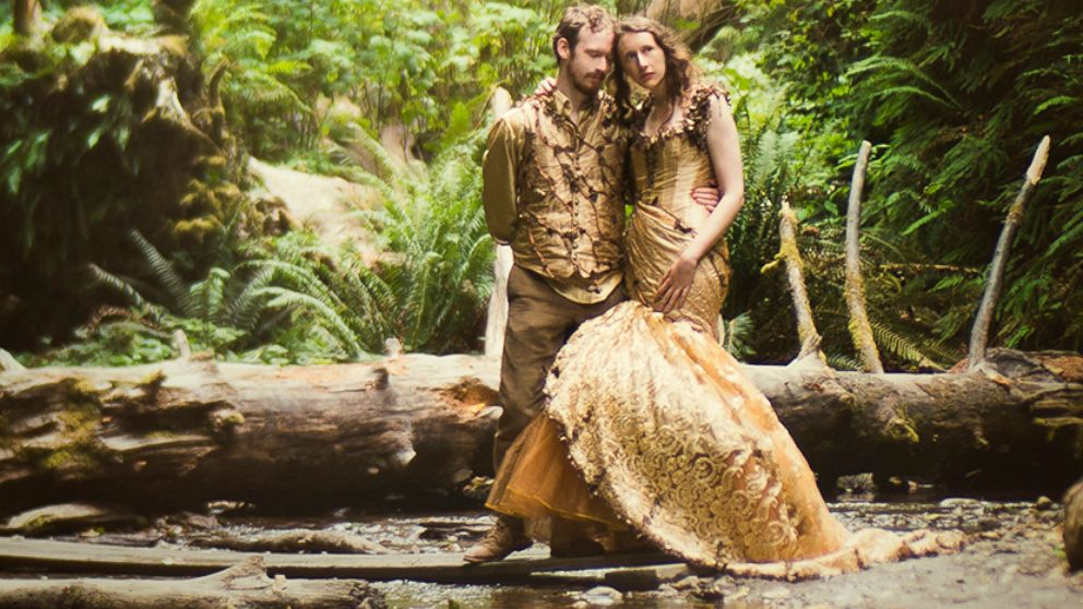 Woman Designs Her Own Woodland Fairy Tale Wedding Dress Over 6 ...