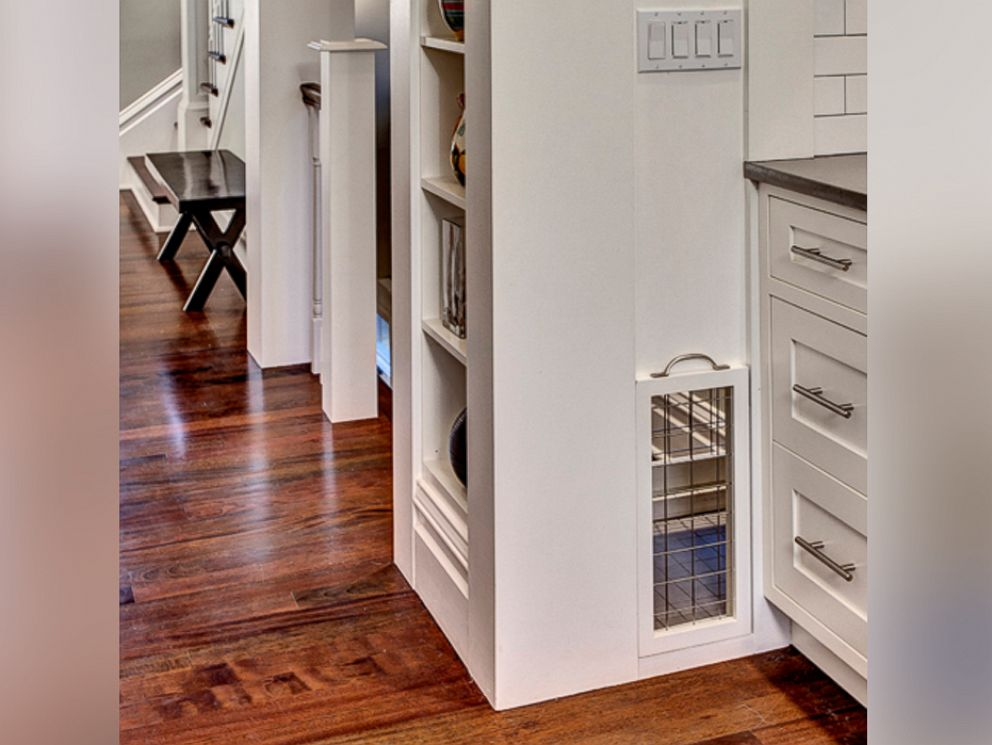 PHOTO: Pelletiers house also has a built-in dog crate off of the kitchen, which he says the dogs love.