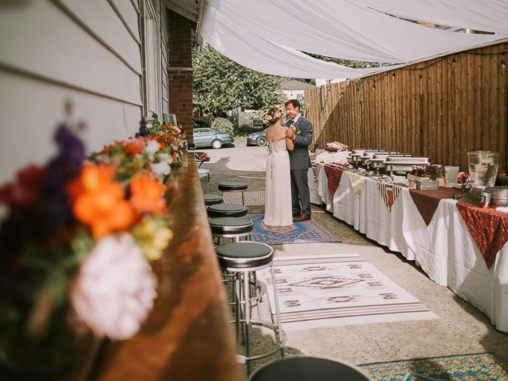 Couple spends 5 months creating their own diy whimsical backyard photo couple transforms their ratty backyard into diy whimsical wedding venue junglespirit Image collections