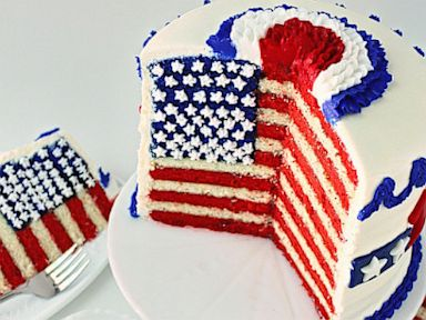 Fourth Of July Flag Cake And Tutorial By Sugarywinzy Recipe Abc News