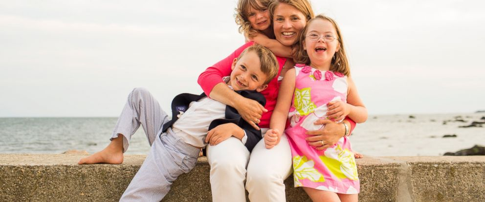 "PHOTO: Amy Julia Becker with her three children. Becker is the author of ""Small Talk: Learning From My Children About What Matters Most,"" to be released Oct. 28."
