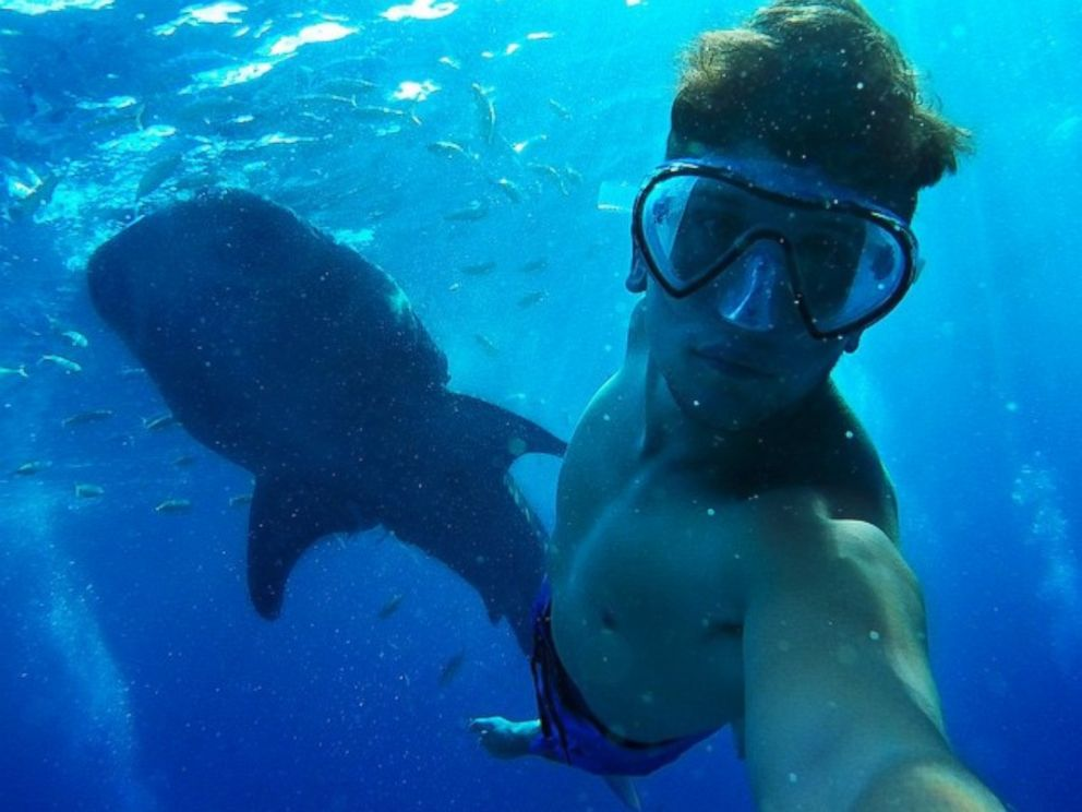 PHOTO: Christian LeBlanc also took an epic selfie with a whale shark in the Philippines.