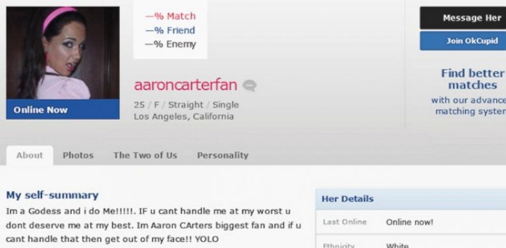 Horrible dating site profiles