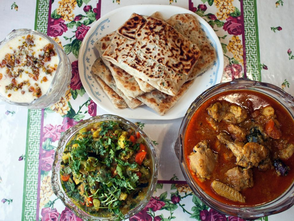 PHOTO: Final dishes prepared at the Bengali cooking class with Afsari.