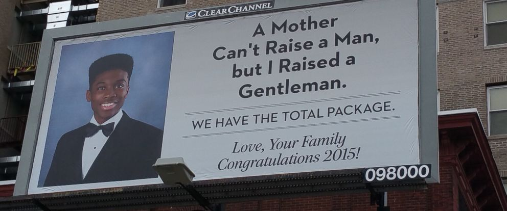 PHOTO: Ovella ONeal was so proud of her sons high school graduation, she bought him a billboard.