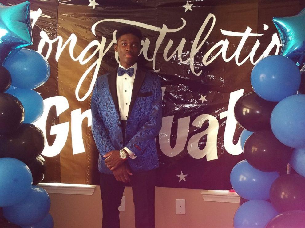 PHOTO: Aljelani AJ Igwe at his senior prom.