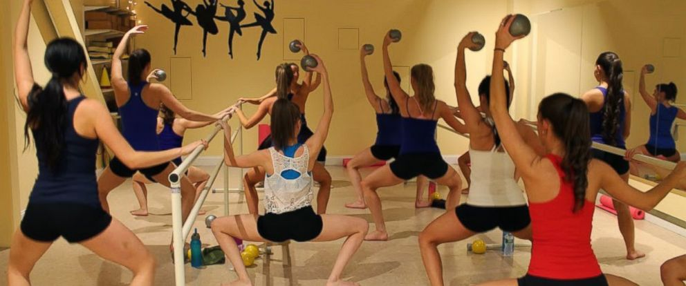 PHOTO: Boston Cannons Dancers Taking Hot Barre at Dance Fit Studio. The studio is the official sponsor of the Boston Cannons Dance Team.
