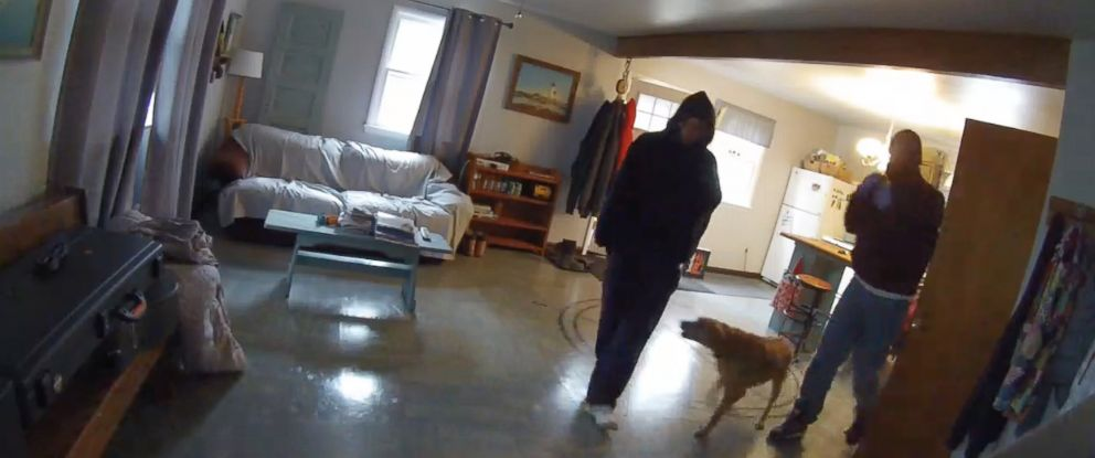 PHOTO: Video surveillance thwarts burglary in Upper Pittsgrove Township, New Jersey, April 12, 2016.