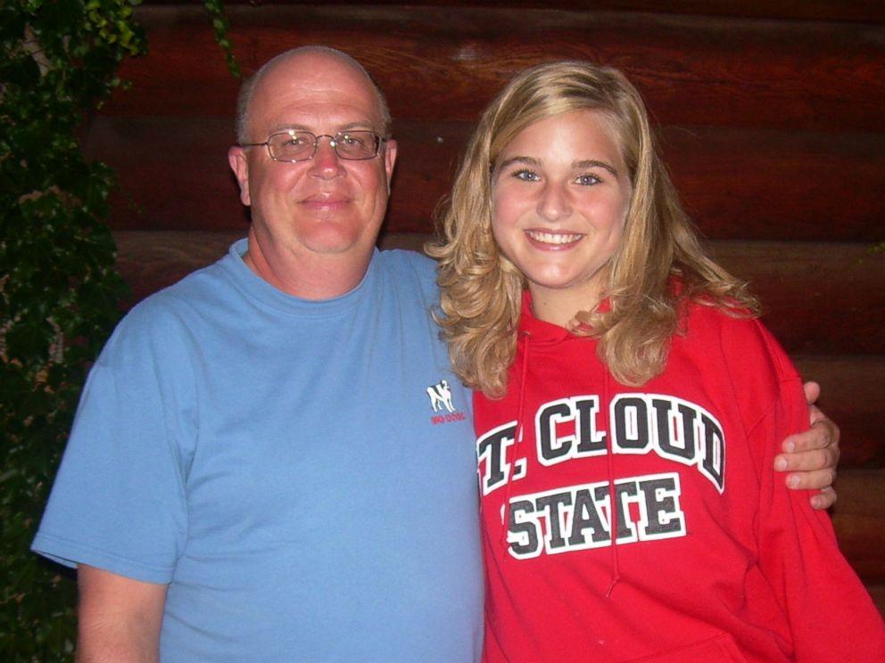 PHOTO:Greta Hokanson of Minnetonka, Minn. with Danny Daniels, the man who saved her life with his bone marrow donation after Hokanson was diagnosed with leukemia in Sept., 2006.
