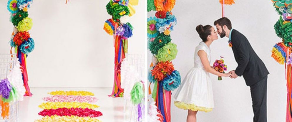 PHOTO: Brit Morin is a DIY queen, creating fun handmade backdrops for events.
