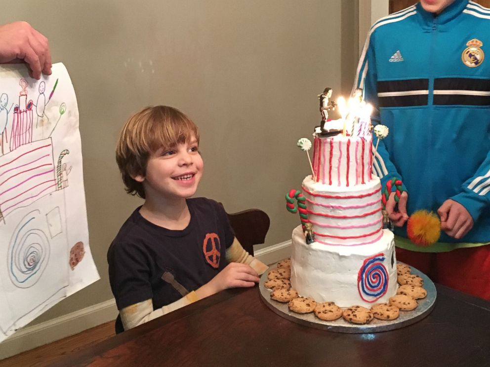 Boy Surprised With Dream Birthday Cake From His Drawing Abc News
