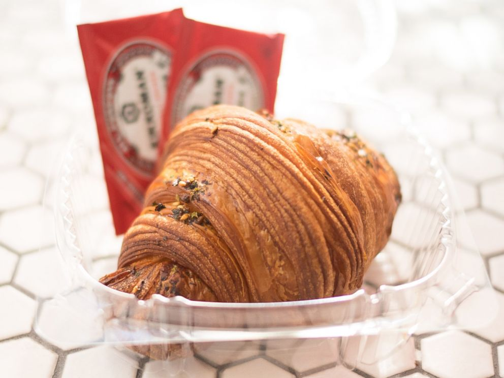 PHOTO: The exterior of the California Croissant, which is stuffed with sushi.