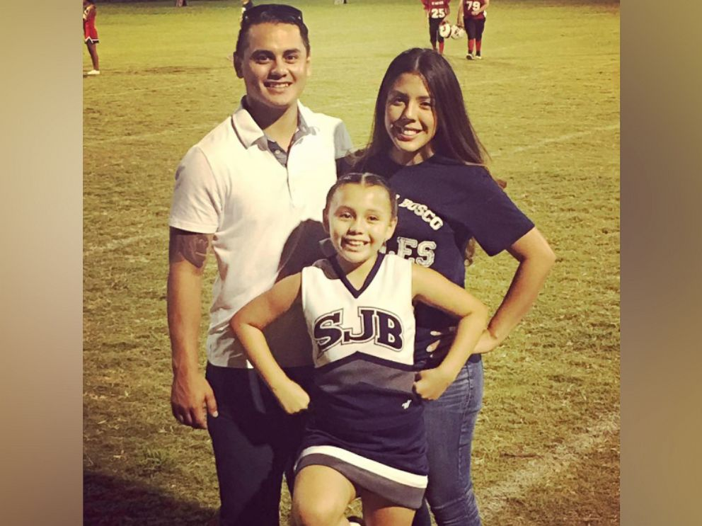 PHOTO: Addie Rodriquez, 9, seen in an undated photo with her parents, Abel Rodriguez and Alexis Perry.