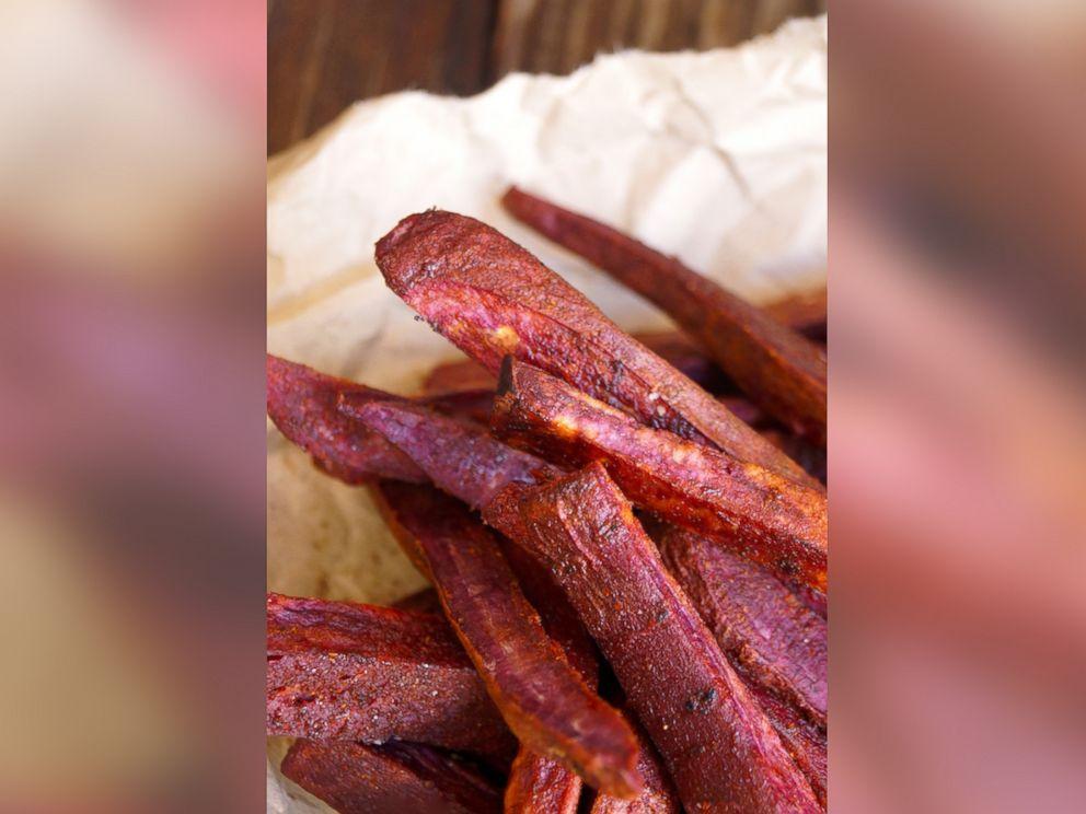 PHOTO: Chile-Lemon Roasted Purple Sweet Potato Fries.