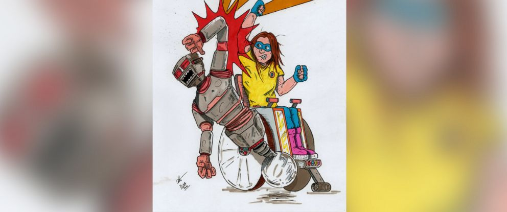 PHOTO: When Dan White couldnt find super heroes to inspire his daughter, who has Spina Bifida, he decided to create his own.