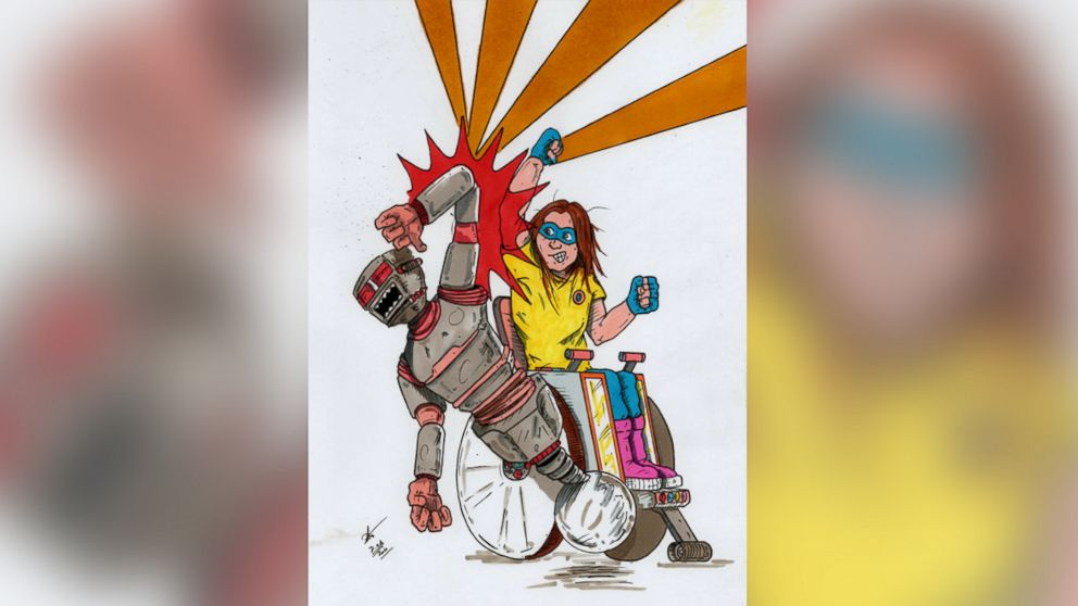 When Dan White couldn't find super heroes to inspire his daughter, who has Spina Bifida, he decided to create his own.
